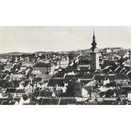 Pohled na Horka-Domky a střed města z Hrádku 1950